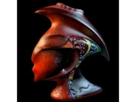 African pottery vase 3d preview