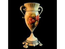 Painting ceramic trophy vase 3d preview