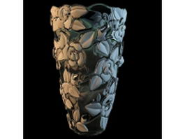 Elegant flower vase 3d preview