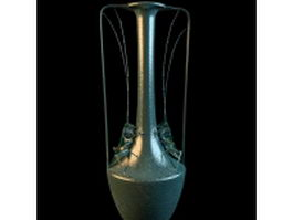 Vintage arts metal vase craft 3d preview