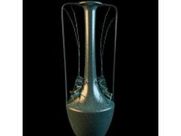 Vintage arts metal vase craft 3d model preview