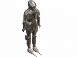 Full suits of Gothic plate armour 3d model preview