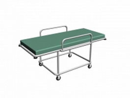 Hospital vehicle bed 3d preview