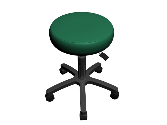Medical exam stool 3d rendering