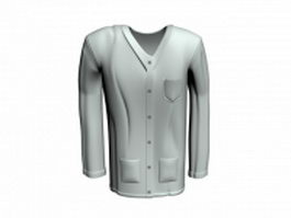 Doctor gown 3d preview