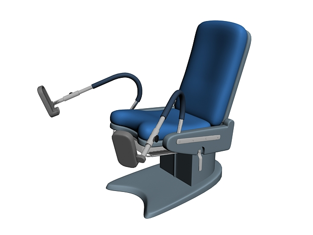 Gynecology exam chair 3d rendering