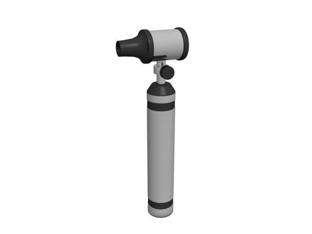 Diagnostic Otoscope 3d rendering