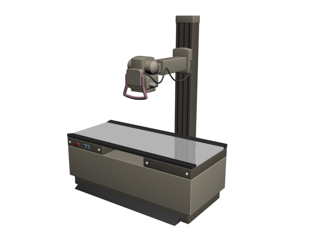 X-ray radiography machine 3d rendering