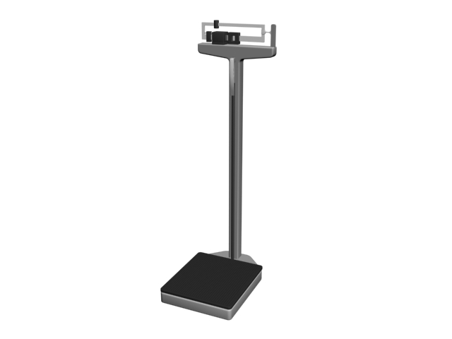 Hospital weight scale 3d rendering