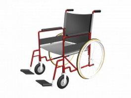 Manual wheelchair 3d preview