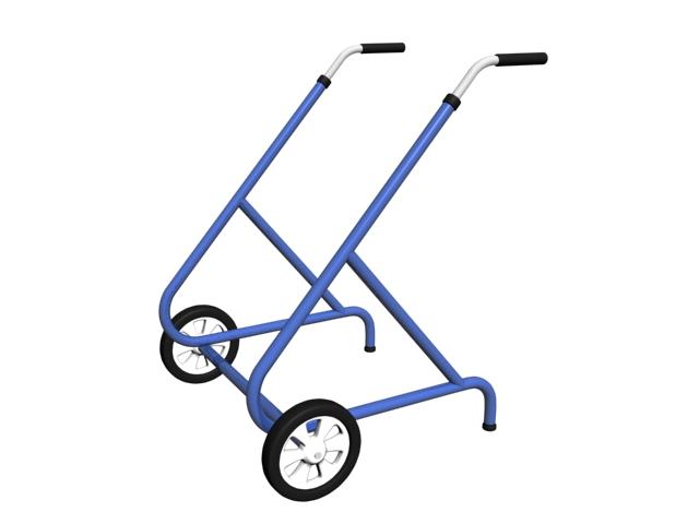 Rolling walker crutch 3d rendering
