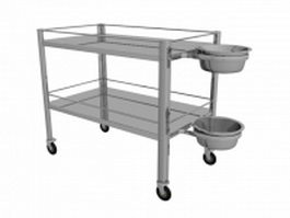 Hospital housekeeping cart 3d preview