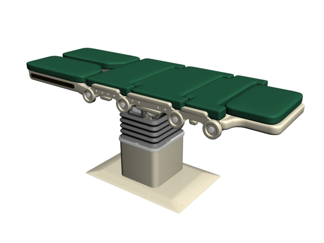 Operating surgery table 3d rendering