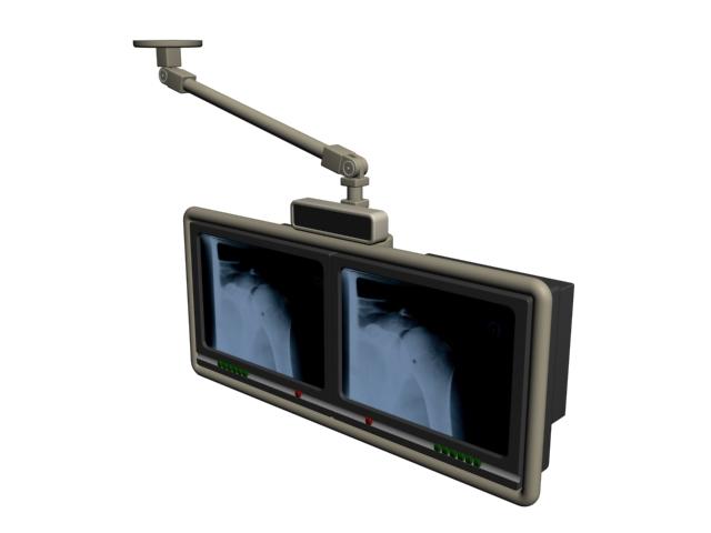 Medical monitors 3d rendering