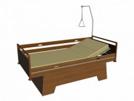 Traditional hospital beds 3d preview