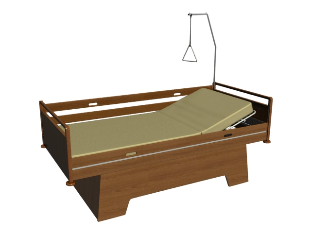 Traditional hospital beds 3d rendering
