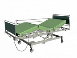 Mechanical hospital bed 3d preview