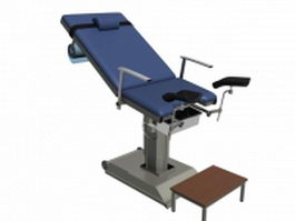 Gynecological examination chair 3d preview