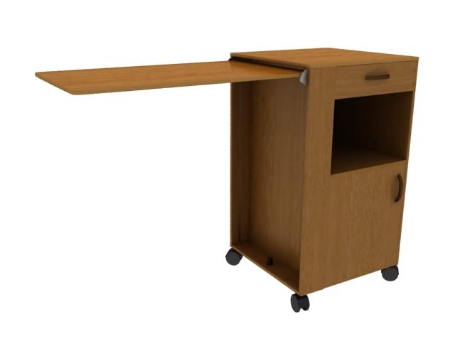 Hospital ward cabinet 3d rendering
