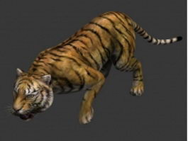 Bengal tiger 3d model preview