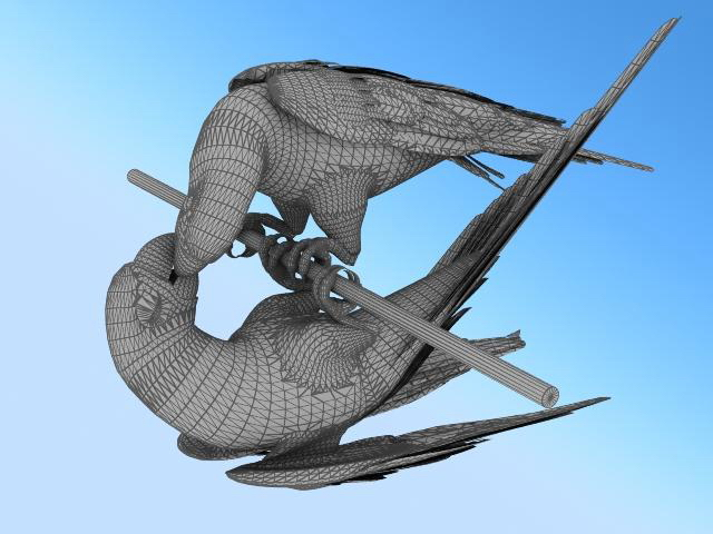 Macaw bird 3d rendering