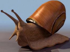 Land snail 3d model preview