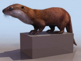 Low poly otter 3d model preview