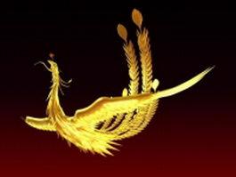 Mythical phoenix bird 3d preview