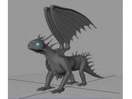 European dragon 3d model preview