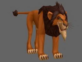 Scar Lion King 3d model preview
