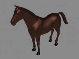 Feral horse 3d model preview