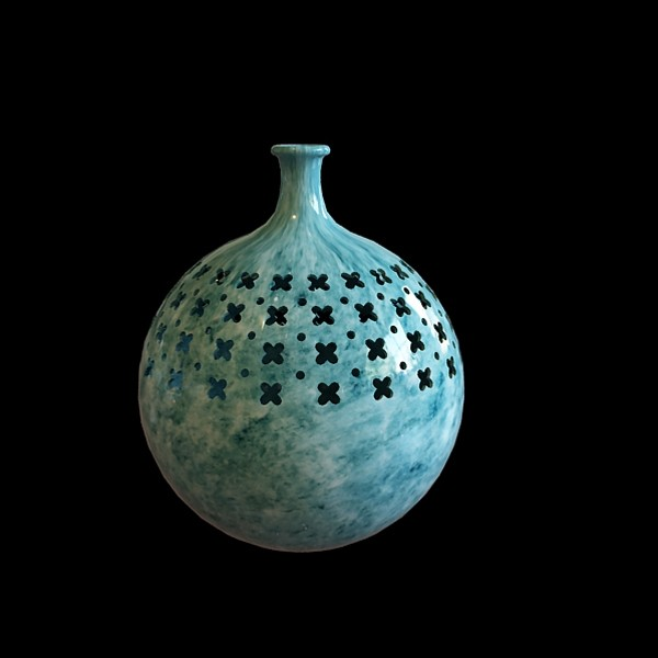 Handcrafted marble vase 3d rendering