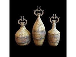 Ancient Greek vases 3d model preview