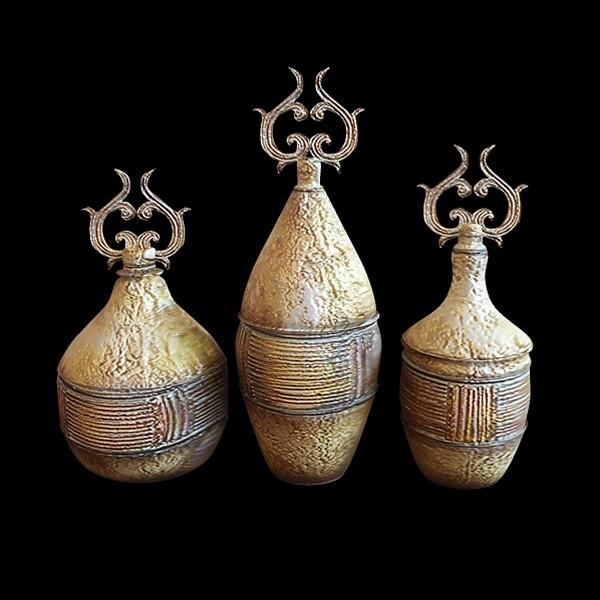 Ancient Greek vases 3d rendering
