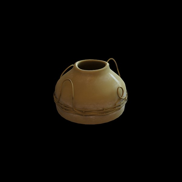 Rustic pottery vase 3d rendering