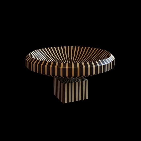 Zebra pattern vase 3d rendering