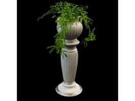 Decorative vase garden planter 3d preview