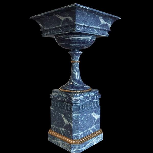 Marble garden urn 3d rendering