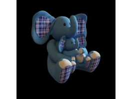 Stuffed toy elephant 3d preview