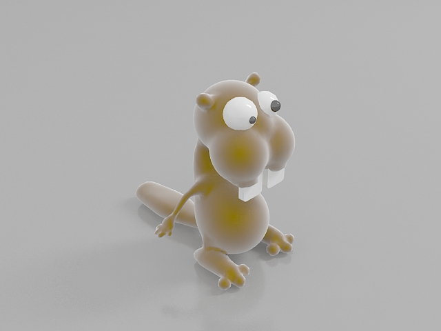 Stuffed toy squirrel 3d rendering