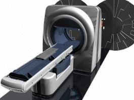 CT scanner equipment 3d model preview