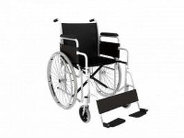 Lightweight transport wheelchair 3d preview