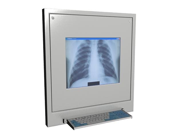 X-ray film machine 3d rendering