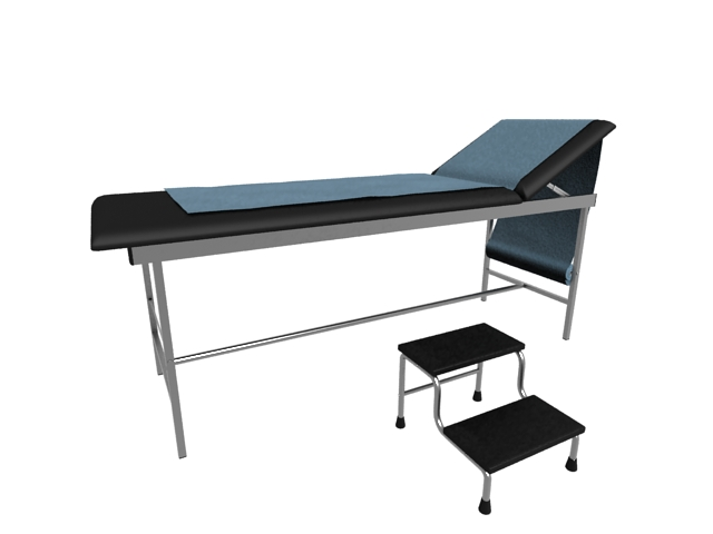 Surgical examination bed 3d rendering