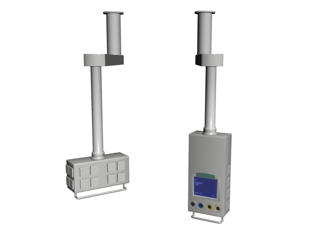 Medical device parts 3d rendering