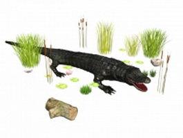 Crocodile attacks 3d preview