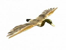 Mallard flying 3d preview