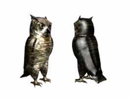 Burrowing owl 3d preview