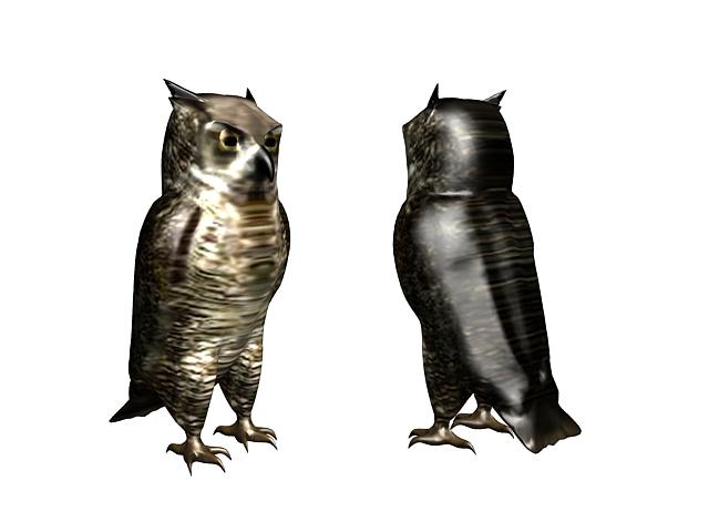 Burrowing owl 3d rendering