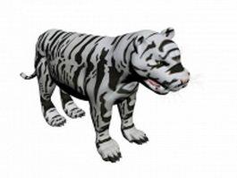 White tiger 3d model preview